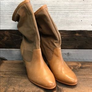 Rebecca Minkoff 'Brynn' Tan Leather Slouchy Boot